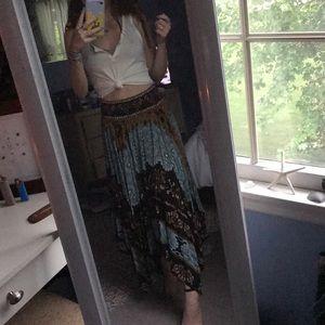 Boho free people maxi skirt